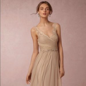 BHLDN Hitherto Fleur gown in sandstone NWOT
